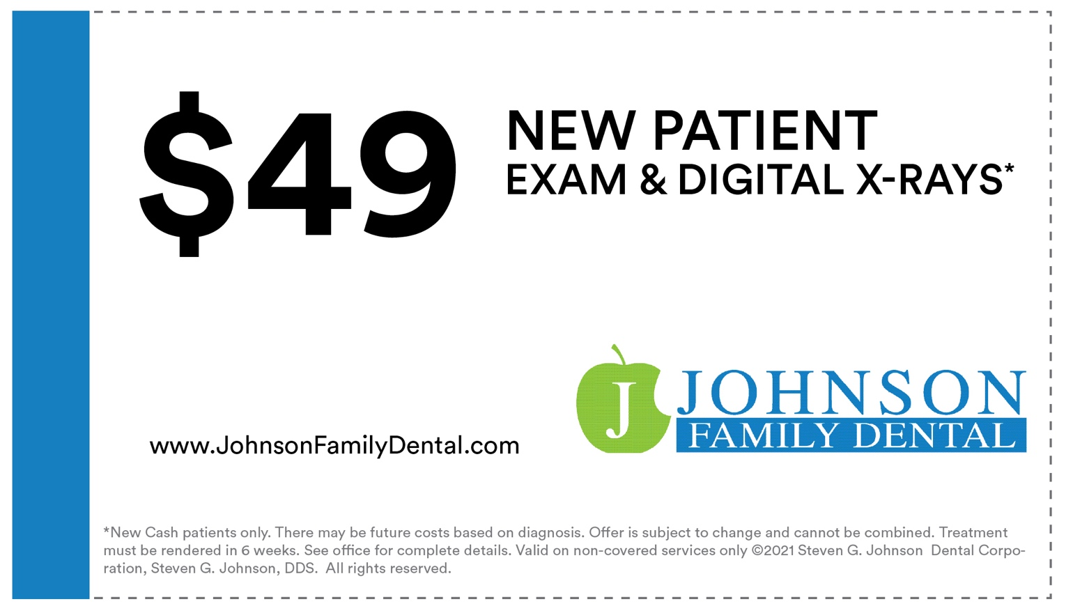 $49 Dental Exam, Digital X-Rays and Second Opinion